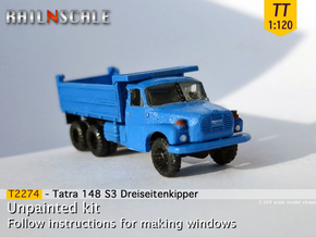 Tatra 148 S3 Dreiseitenkipper (TT 1:120) in Smooth Fine Detail Plastic