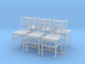 Chair 07. 1:24 Scale in Smooth Fine Detail Plastic
