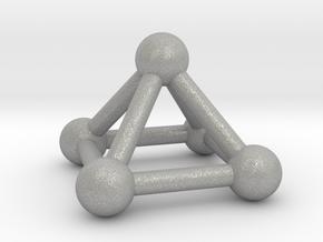 0721 J01 Square Pyramid V&E (a=1cm) #3 in Aluminum