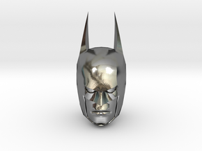 Batman Head in Polished Silver (Interlocking Parts)