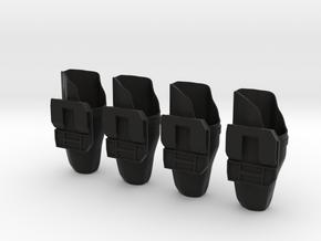 """""""Space Angel"""" Blaster Holsters - 1:6 Scale (4 Pack in Black Natural Versatile Plastic"""