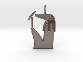 Sobek amulet, no crown version in Polished Bronzed-Silver Steel