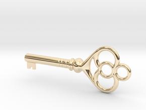 Cupboard Key (Indian in the Cupboard, 1995) in 14k Gold Plated Brass