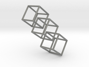 Three interlocking cubes in Gray Professional Plastic