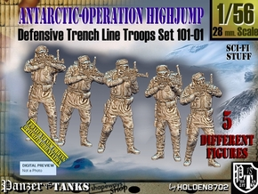 1/56 Antarctic Troops Set101-01 in Smooth Fine Detail Plastic
