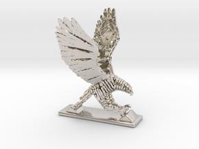 Sliced hawk Desktoy in Platinum