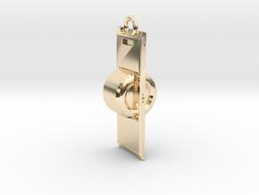 OneWheel 3 Horizontal Ring in 14K Yellow Gold