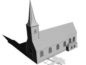 1/350 Village Church in White Natural Versatile Plastic