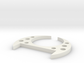 simple disk  disk in White Natural Versatile Plastic