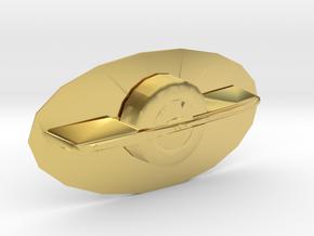 OneWheel Belt Buckle in Polished Brass