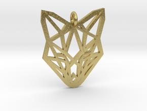 Fox Pendant in Natural Brass