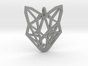 Fox Pendant in Gray Professional Plastic