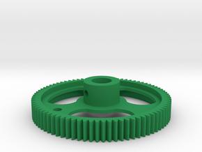 Aerodynic Motor Drive  Gear 1X in Green Processed Versatile Plastic