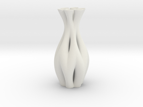 Vase HLX1932 in White Natural Versatile Plastic