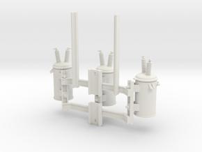 Cluster Bracket 01 in White Natural Versatile Plastic