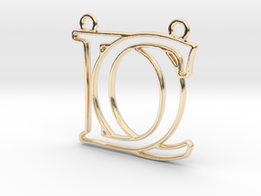 Initials C&D monogram in 14k Gold Plated Brass