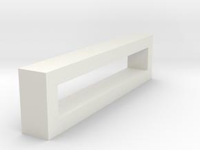 CHOKER SLIDE LETTER I 1⅛, 1¼, 1½, 1¾, 2 inch sizes in White Natural Versatile Plastic: Extra Small