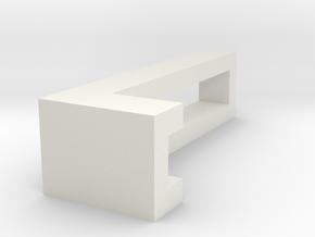 CHOKER SLIDE LETTER L 1⅛, 1¼, 1½, 1¾, 2 inch sizes in White Natural Versatile Plastic: Extra Small
