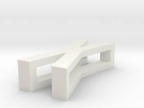 CHOKER SLIDE LETTER X 1⅛, 1¼, 1½, 1¾, 2 inch sizes in White Natural Versatile Plastic: Extra Small