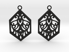Aaricia earrings in Black Natural Versatile Plastic: Small