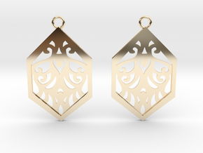 Aaricia earrings in 14K Yellow Gold: Small