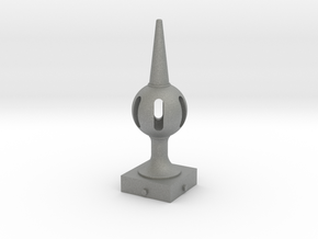 Signal Finial (Pierced Ball) 1:24 scale in Gray PA12