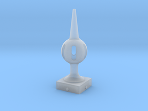 Signal Finial (Pierced Ball) 1:6 scale in Smooth Fine Detail Plastic