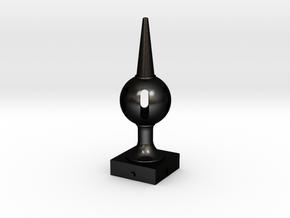 Signal Finial (Pierced Ball) 1:6 scale in Matte Black Steel