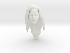 Wonder Woman Head in White Natural Versatile Plastic