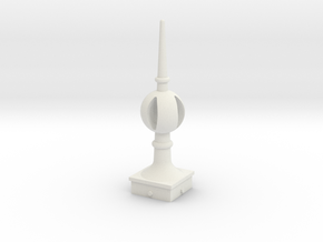 Signal Finial (Open Ball) 1:22.5 scale in White Natural Versatile Plastic
