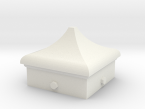 Signal Finial (Square Cap) 1:22.5 scale in White Natural Versatile Plastic