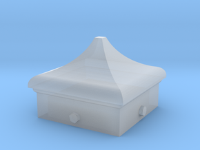 Signal Finial (Square Cap) 1:22.5 scale in Smooth Fine Detail Plastic