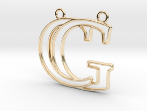 Initials C&G monogram in 14k Gold Plated Brass