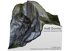 Yosemite - Half Dome Map: 6 inch in Full Color Sandstone