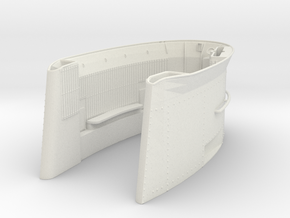 1/6 DKM U-Boot VII/C Conning TowerPart1 in White Natural Versatile Plastic