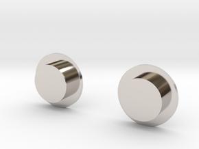 Sportello Billet Box Rev4 Button v2.0  in Rhodium Plated Brass