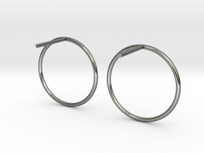 Billabong Circle Earrings in Polished Silver