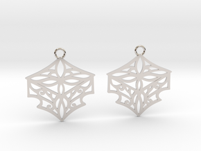 Adalina earrings in Rhodium Plated Brass: Small