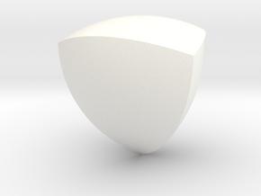 Reuleaux Tetrahedron 60mm in White Processed Versatile Plastic