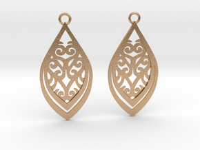 Nessa earrings in Natural Bronze: Small