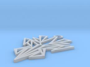 Dark symmetry pendant in Smooth Fine Detail Plastic: Small