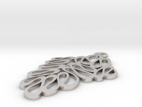 Wave pendant in Platinum: Small