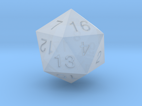 ENUMERATED BALANCED ICOSAHEDRON in Smooth Fine Detail Plastic