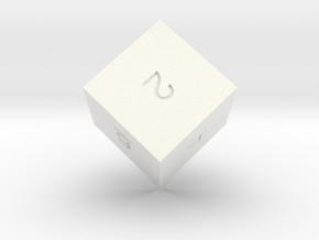 ENUMERATED HEXAHEDRON in White Processed Versatile Plastic