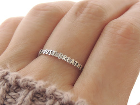Just Breathe Ring (Multiple Sizes) in Polished Silver: 6 / 51.5