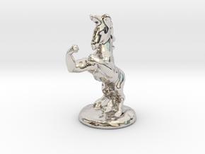 Fu The Fighting Unicorn™ small in Platinum: Small