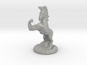 Fu The Fighting Unicorn™ small in Aluminum: Small
