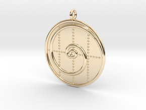 Mathematics Symbol  in 14k Gold Plated Brass