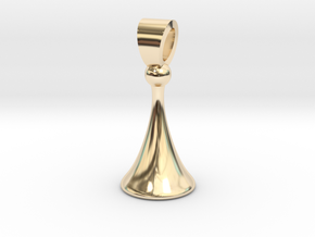 Old style pawn [pendant] in 14k Gold Plated Brass