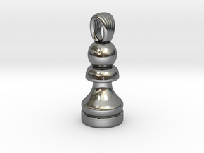 Classic chess pawn [pendant] in Polished Silver